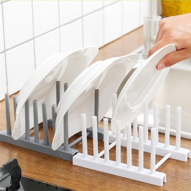 Cuisine Organisateur Pot Couvercle Porte Porte en acier inoxydable cuillère Pot couvercle plateau de cuisson égouttoir Pan Couvercle Support Accessoires de cuisine
