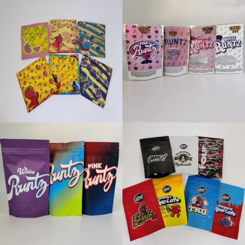 Kleinblumen-Dry Zipper Für Co-Tasche 7 18 Unzen Optionen Gas Mylar Tabak California Kräutertasche Lagerung Gasco 3.5g Verpackung Paket iMZtJ