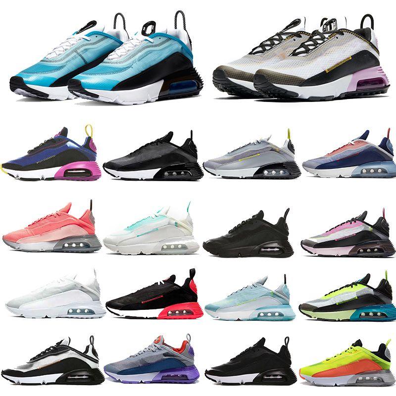 أفضل 2090 الاحذية TN النيون تمييز نيمار الوردي رغوة فوتون الغبار BETRUE مدرب الرياضة ولدت الثلاثي أسود أبيض حذاء رياضة حجم 36-45