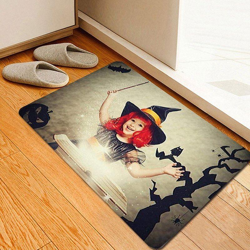 Новый Хэллоуин Ковер Сцена Композиция Реквизит Печатный Ковер напольный коврик для Проем Кухня Ванная SF66 KHMs #