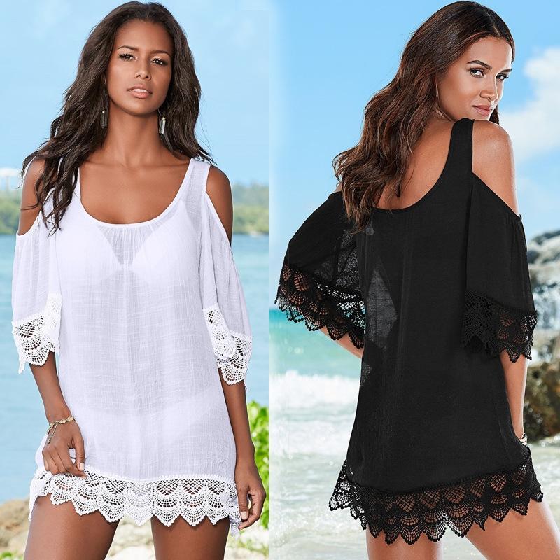 sxgPA dentelle bikini Rayonne laceshoulder blouse plage manteau vacances de vêtements jupe courte maillot de bain crème solaire dentelle maillot de bain Bikini bambou