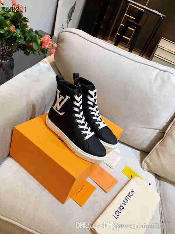 2020 zapatos de las señoras de alto top, señoras diseño de lujo zapatillas de deporte casuales de la moda de alta calidad