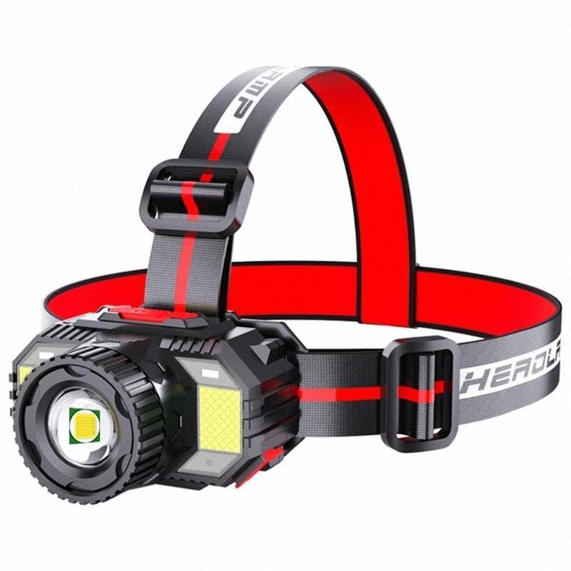 Супер яркий светодиодный фары 4 Режимы освещения Intelligent Light Sensing фара для для кемпинга Рыбалка флэш Фара мотоциклов 1TA2 #