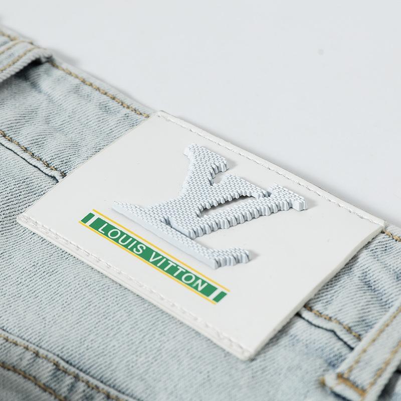 Clairs d'été des hommes et des pantalons jeans et des jeans couleur coton pantalon slim long 5NF43 mince