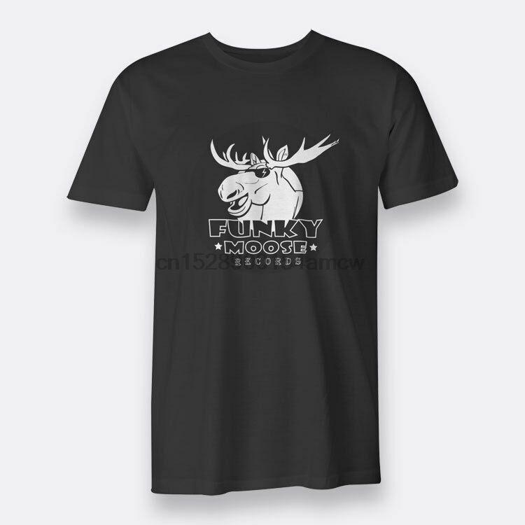 Funky MooseRecords T-shirts T-shirt noir pour les hommes S-5XL