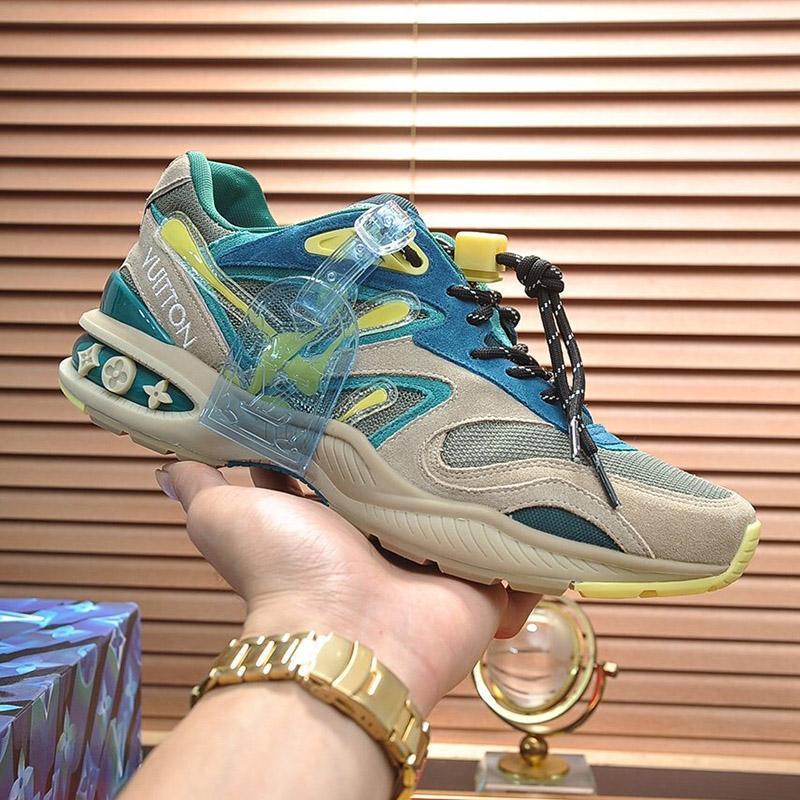 2020 L17 Fashion Trend Designer Herren-Schuh-Leder Mesh-Breathable bequemer Outdoorschuh Lace-up beiläufige Wanderer Schuhe Herren Sneakers