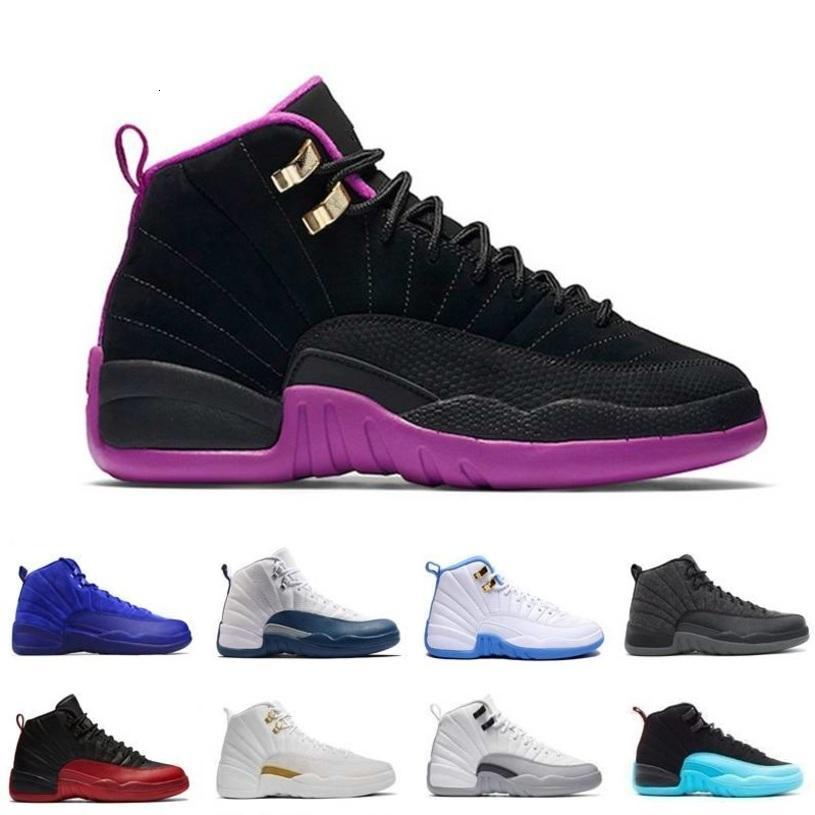 12 verre d'air chaussures de basket-ball blanc noir 2003 Bordeaux 12s hommes le maître Tan laine loup gris RETRO F séries éliminatoires jeu de la grippe de Seankers rouge J12