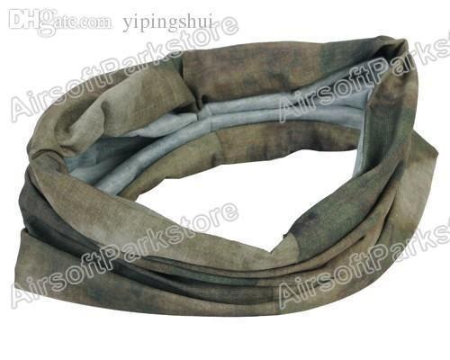 Máscara mayor-Airsoft táctico multifuncional de secado rápido de la bufanda de la media cara A-TACS FG envío libre