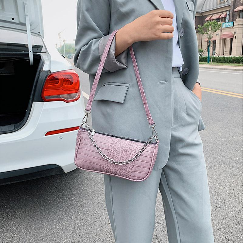 Bag Shoulder Underarm 2020 Designer Luxury Handbag Bag Leather Phone Crocodile Women Print Female Pouch Women Crossbody Bags Jahkg