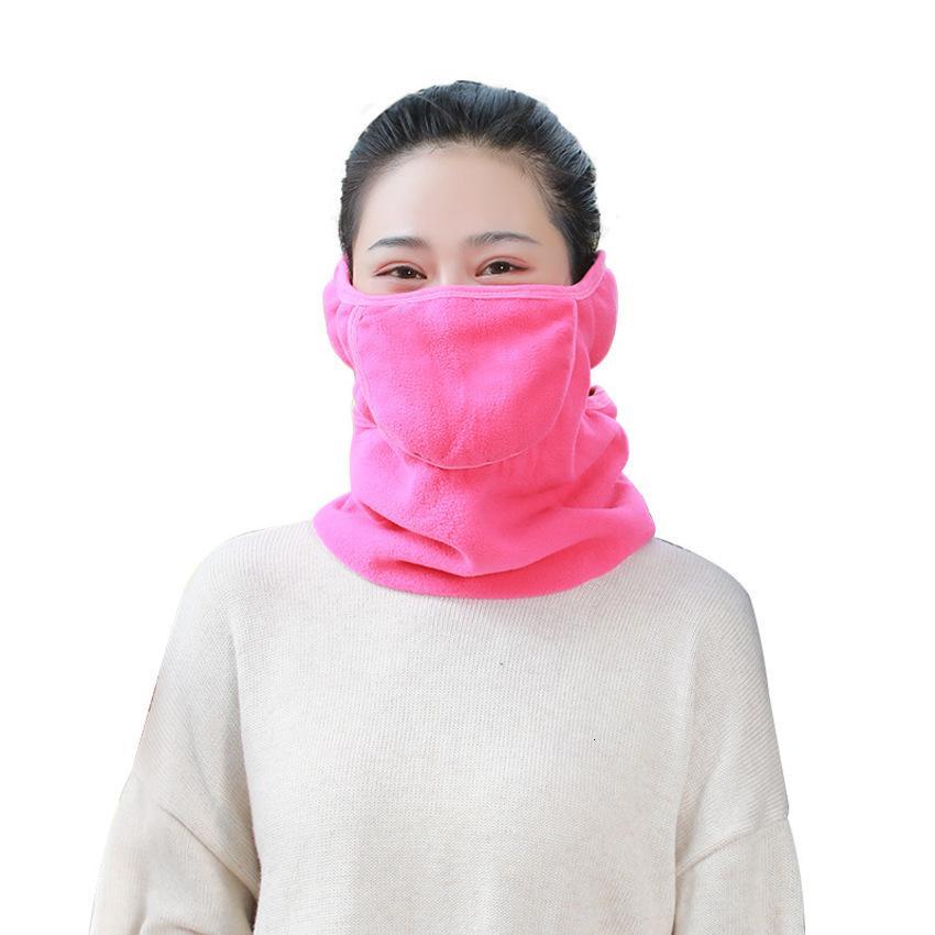 orejeras máscara adulta de los hombres de invierno de otoño y de las mujeres de la bufanda de tres-en-uno caliente de algodón transpirable viento frío del coche montar