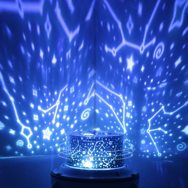 Rotierende Rakete LED-Scheinwerfer bunte Nachtlampen Raum Sternenhimmel LED-Projektor Schlaf LED-Projektor Schreibtischlampe Nacht leuchtet topmeed