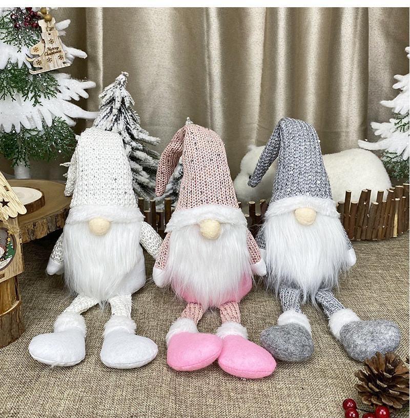 Noel Süslemeleri Nordic Stil Noel Bebek Yüzsüz Yaşlı Adam Bebek Pencere Noel Baba Bebek Ev Dekorasyon DB010
