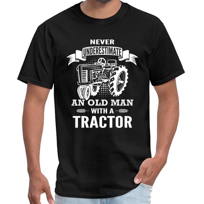 Отпечатано Old Man тракторных кузнецы тенниски мужчины женщины remeras т рубашка с-6XL рисунка