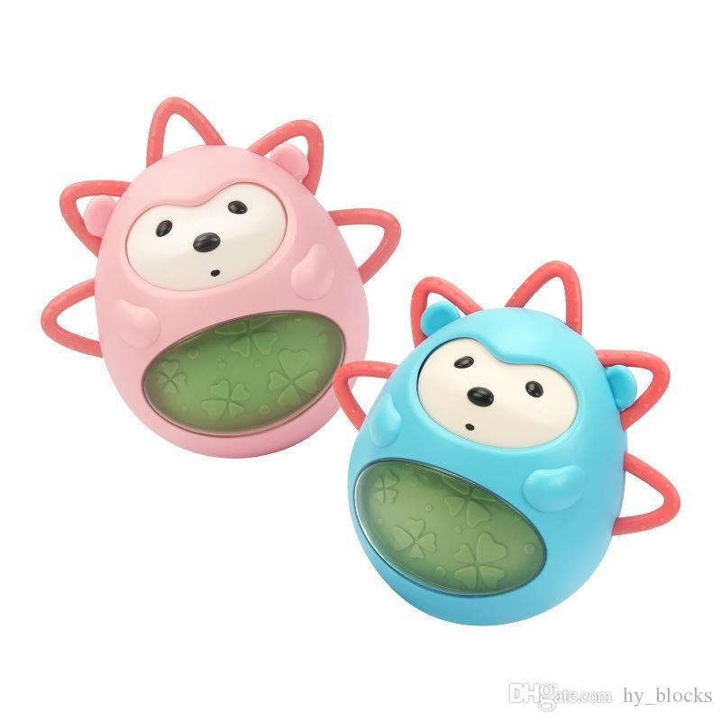 Baby Rattles Tumbler Toys Music Animal Dolls Infant Early Education Bath Toy For Children Kids Handle Learning Gifts