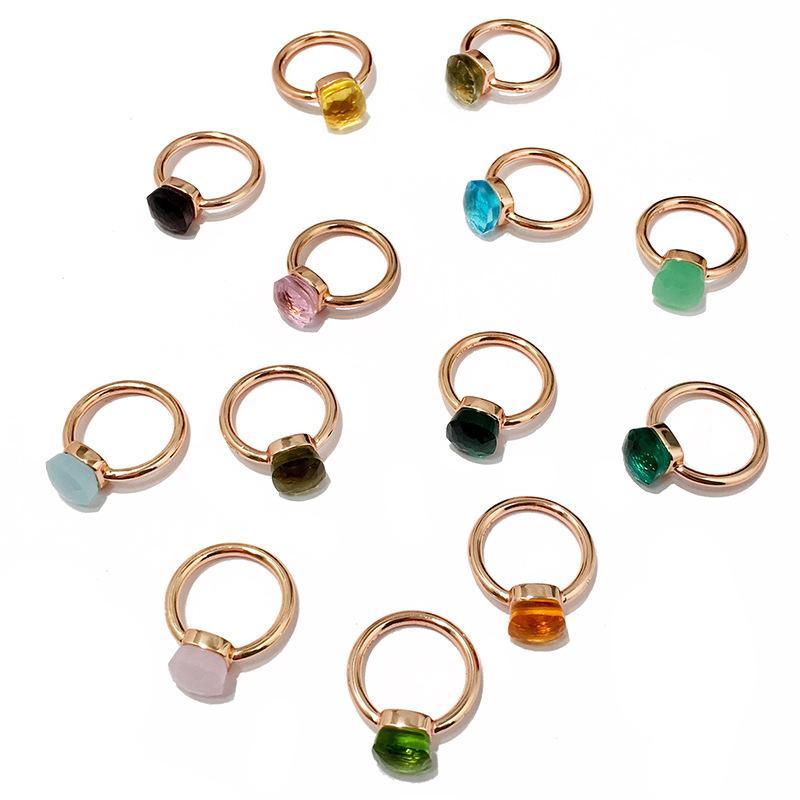 anneau de haute qualité anneaux de mariage en pierre une seule couleur de la mode femme bijoux bagues en diamant engagement pour les femmes anneau de mode en gros
