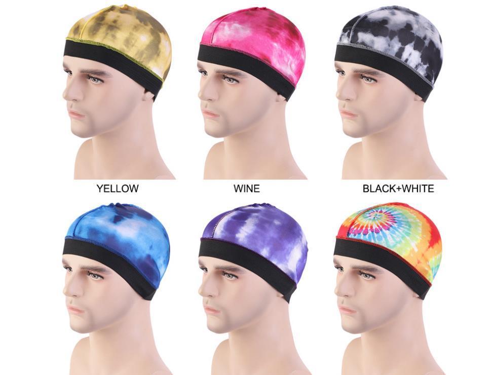 Новая шелковистая волна Caps Резинка Wave Cap моды галстук-окрашенные шелковистая волна Мужские шляпы парик шапки для 360 540 и 720 Waves