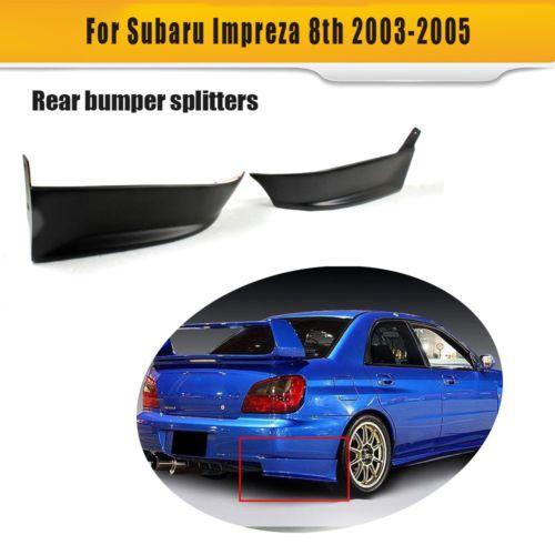 Subaru Impreza WRX 2004-05 için Boyasız Arka Tampon Bölücüler Flepler Önlükler Fit