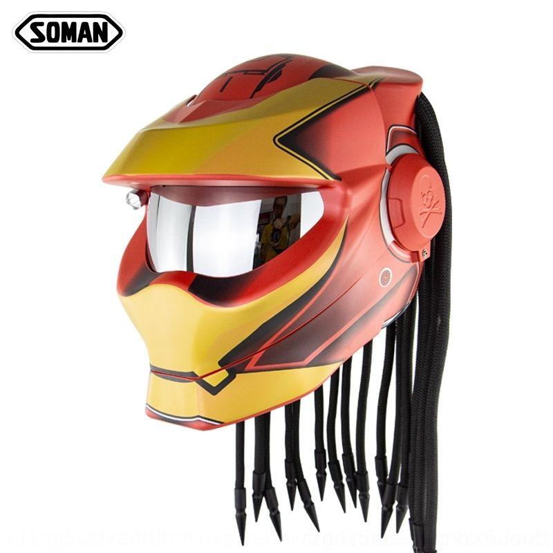 men and iron Black women warrior riding personality helmet SM958 motorcycle helmet motorcycle braid ytBHh