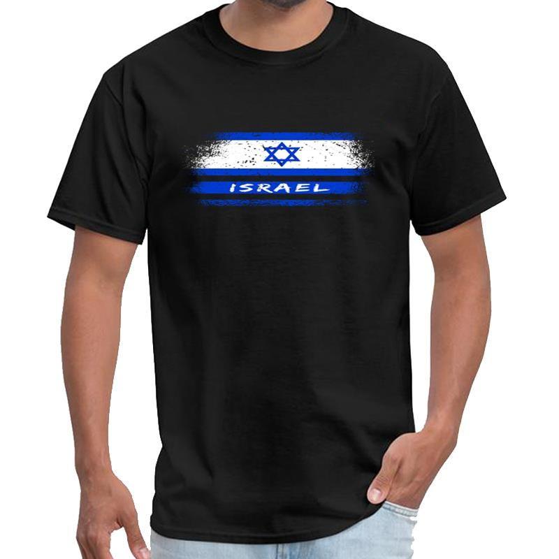 Personalisierte Israel Vintage Flagge / Gift Jerusalem das Büro tv serie T-Shirt männlich weiblich salah T Shirt plus Größen S-5XL Tee oben