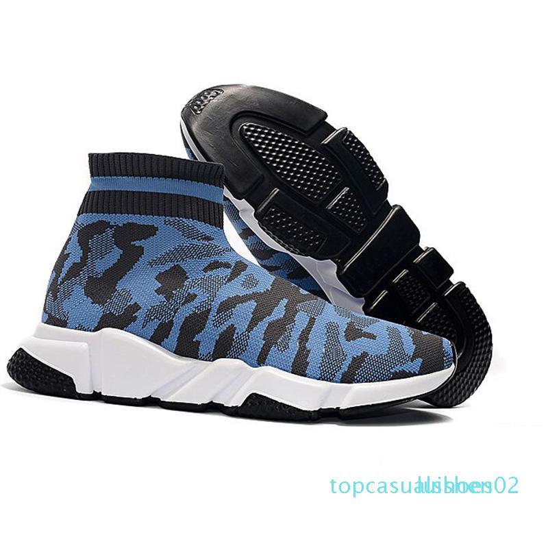 2020 Yeni Tasarımcı Sneakers Hız Runner Moda Çorap Üçlü Siyah Kırmızı Düz Eğitmen Erkekler Kadınlar Casual Ayakkabı Spor 1 t02 Ayakkabı