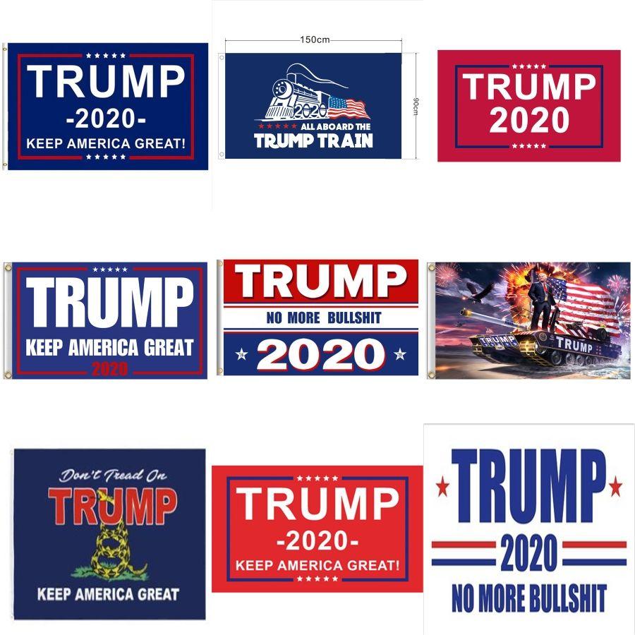 Trump Flag Réservoir Donald John Bannière Usa Président Decortive train Keep America Great Divers styles 12Wf F1 # 203