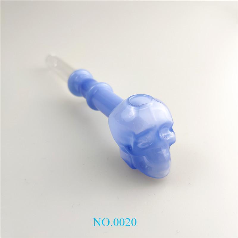 Les tubes de verre bangs eau de brûleur à huile fumante accessoires 8 couleurs pipes à main de l'eau du brûleur à huile crâne de verre plate-forme de bongs tt très populaire