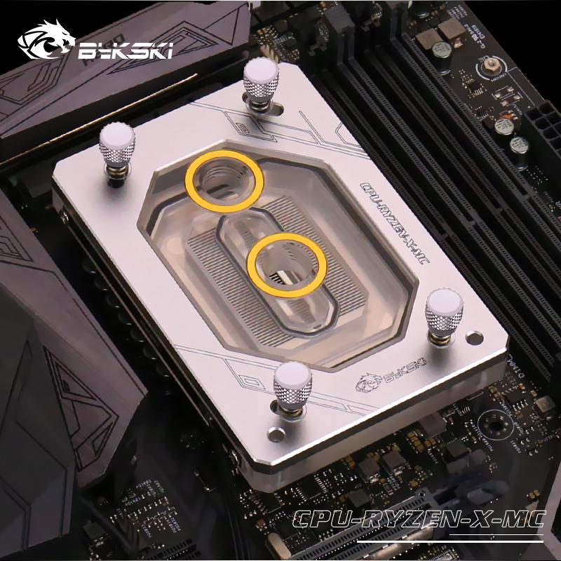 Bykski Water Cooling Radiator CPU Block use for AMD Ryzen ThreadRipper AM2/AM3/AM4/TR4/1950X RGB Light AURA Light Radiator Block