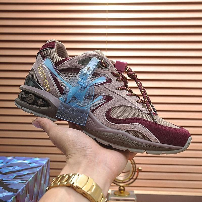 2020 L3 Fashion Trend Designer Herrenschuhe aus Leder Mesh-Breathable bequemen Outdoorschuh Lace-up beiläufige Wanderer Schuhe Herren Sneakers