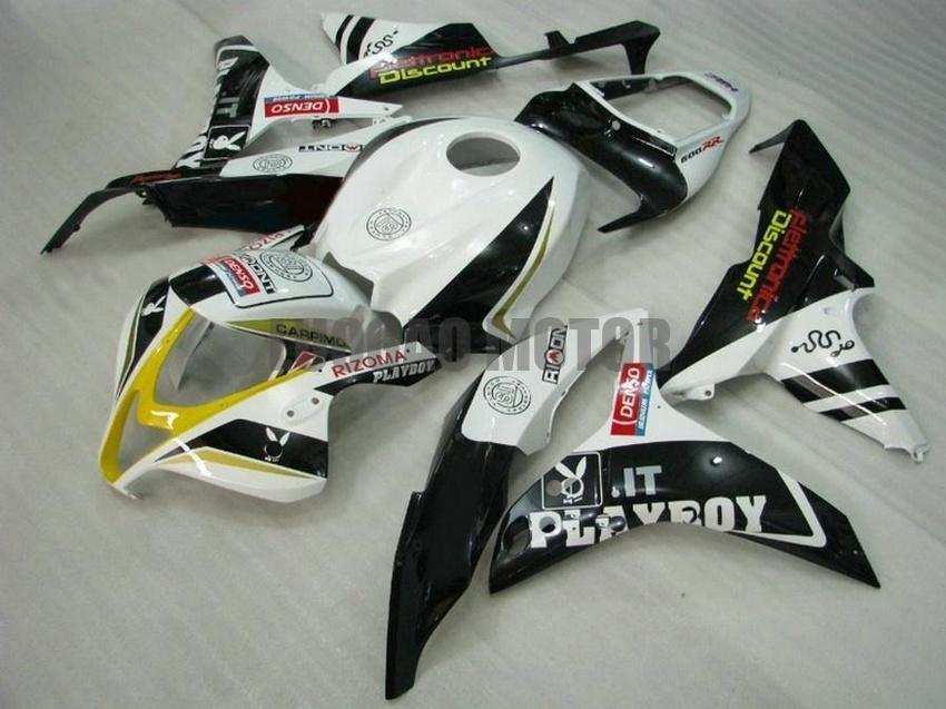 Injeção carenagens kit + presentes para HONDA CBR600RR F5 2007 2008 CBR600RR F5 07 08 cobertura do corpo + pára-brisas #black branco # E8H56