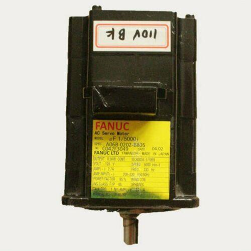 1PCS Usato Fanuc A06B-0202-B805 servomotore provato in buone condizioni # QW