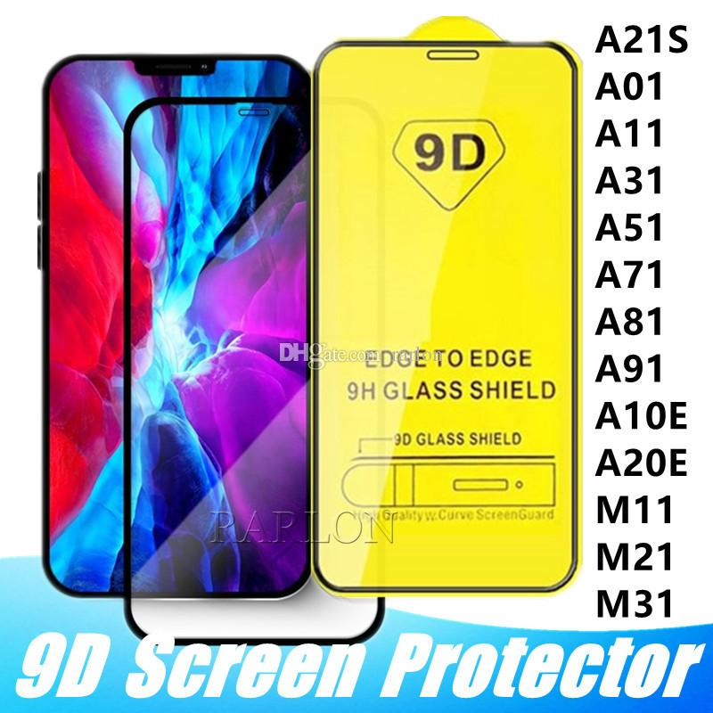 9D Full Cover Tempered Glass Full Glue 9H Screen Protector for iPhone 12 11 Pro Max XS XR X 8 2020 Samsung S10 E A10 A31 A71 A21S Huawei P40