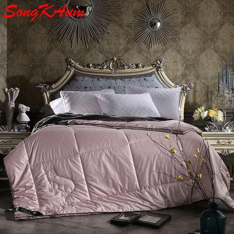 Nível superior 100% Quente Cashmere Consolador 3D Inverno Cinco estrelas Hotel Quilt cama cobertor de lã / Quilt / edredão Inserir Queen Size pGg0 #
