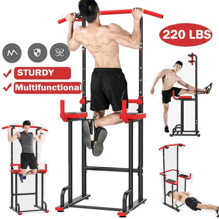 Pull Up Fitnessstation Turm Power Dip Gym Home Bar Training Stand Slimming Equipment