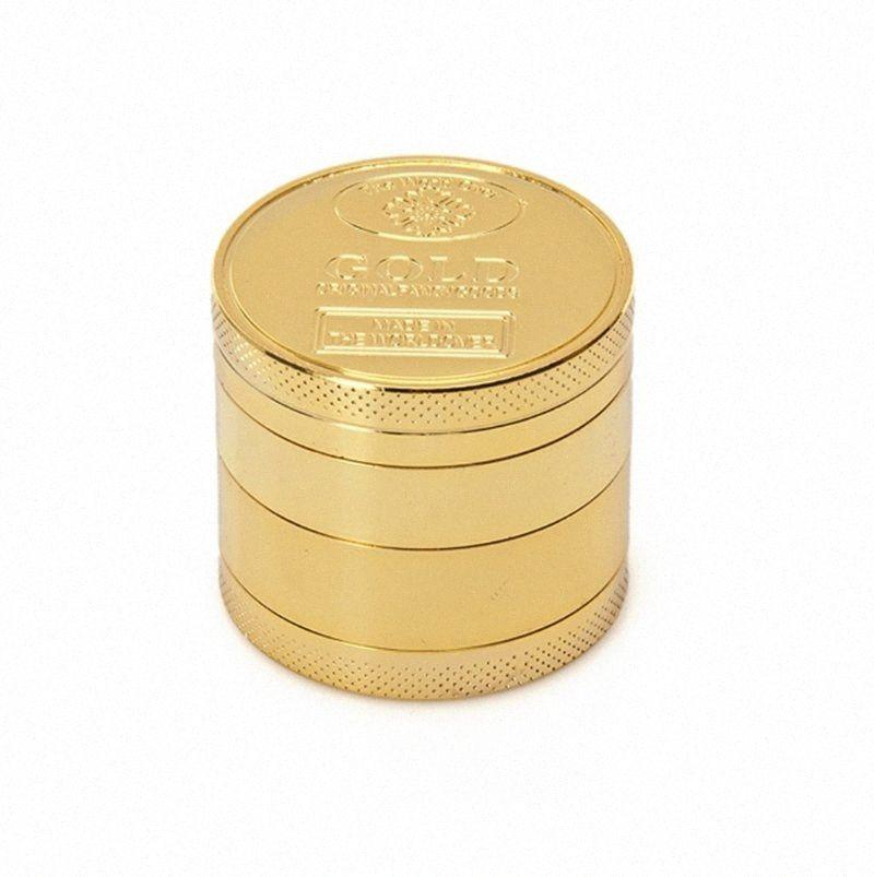 Herb Grinders ouro fumadores Grinders Alloy Tobacco Grinder 4 camadas Spice Britadeiras fumadores Acessórios 40MM 50MM 55M 63MM 75MM WZW-YW36 boRQ #