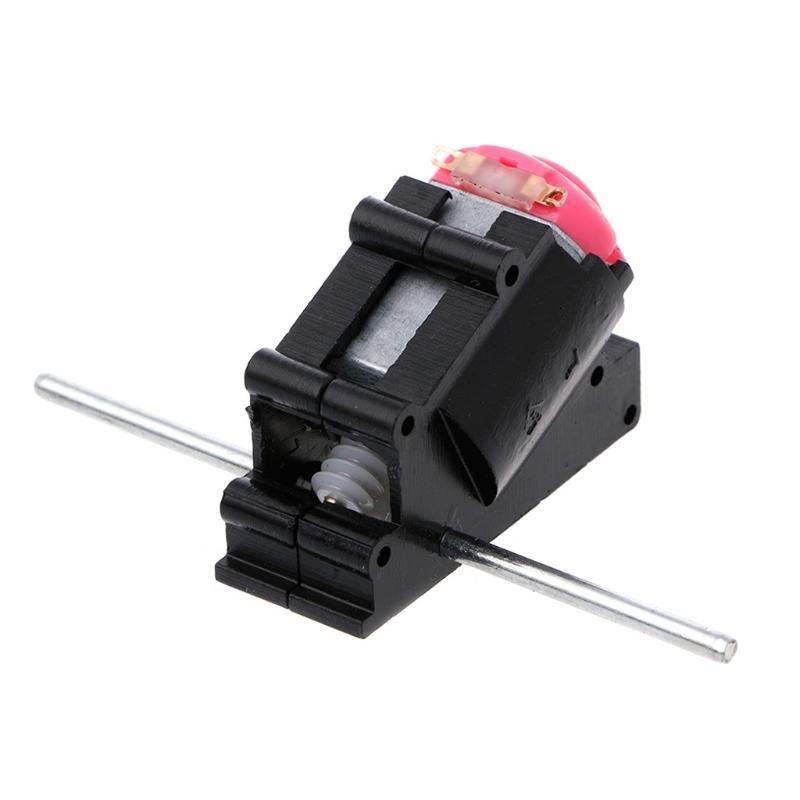 더블 샤프트 베벨 앵글 기어 모터 슈트 웜 감속기 3 -6V DIY 부품