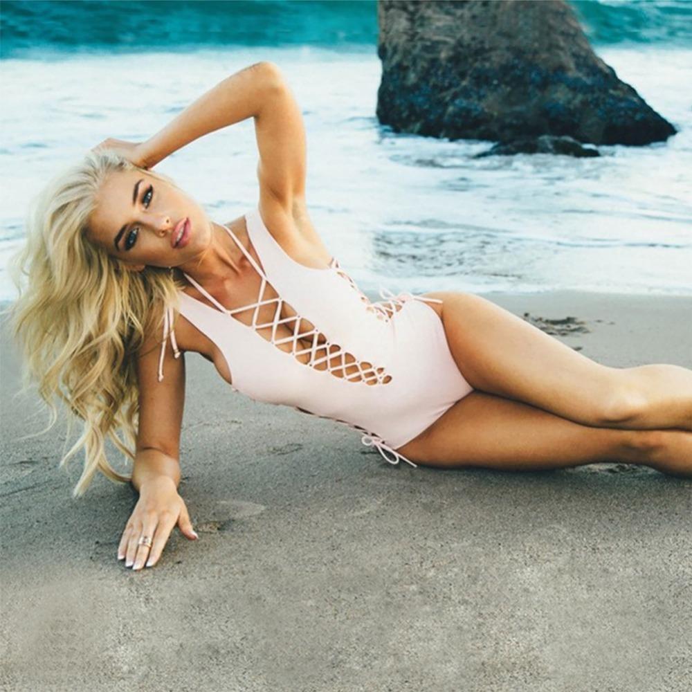 One Piece Bademode Cut out Swimsuits Bodysuit Sexy Frauen-Sommer-Badeanzüge aushöhlen Monokini Badeanzug für Frauen Y200824