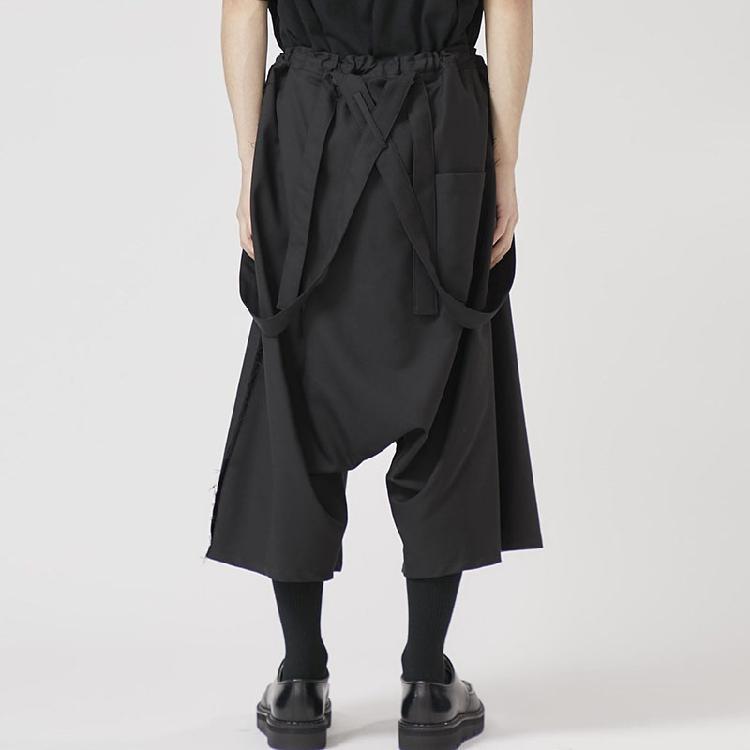 Pantalon de Hommes personnalisés Plus Taille Casual Casupped Bretment Pantalons Pantalon noir foncé.