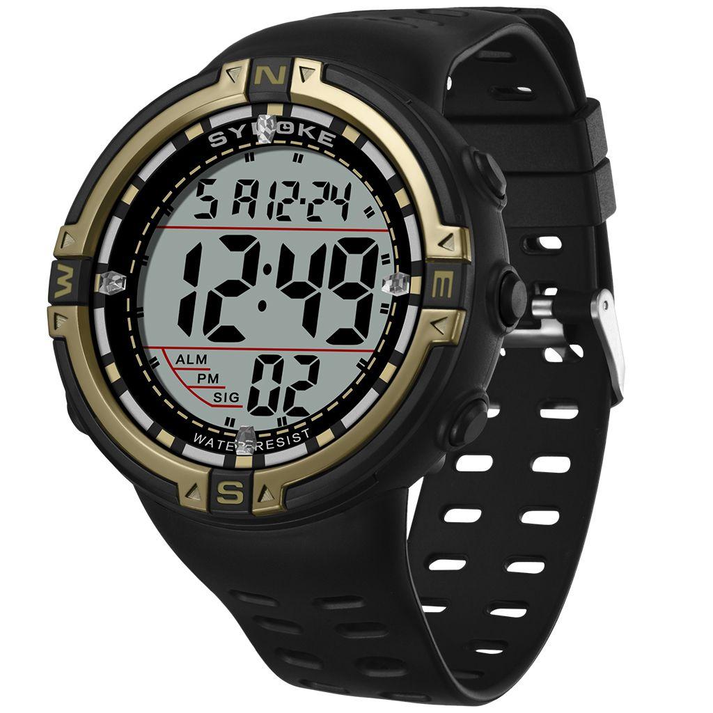 Die neue heiße Art Outdoor-Multifunktions-wasserdichte leuchtende Uhr mit großen Ziffernblatt für den Sport der Männer elektronische Uhr