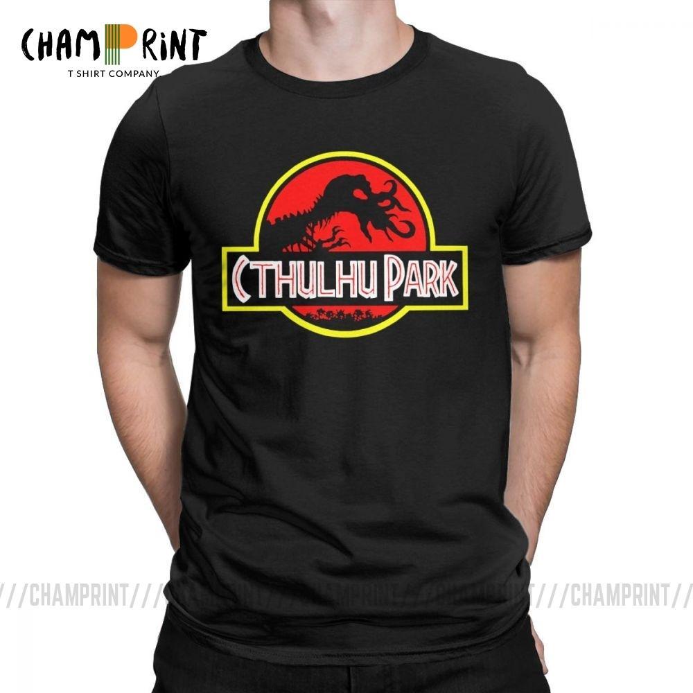 Cthulhu Korku Tee Gömlek Cadılar Bayramı iddialı Müthiş Tişörtler Artwork Baskılı Giyim Of Lovecraft R'lyeh Park Erkekler Tişörtlü The Call
