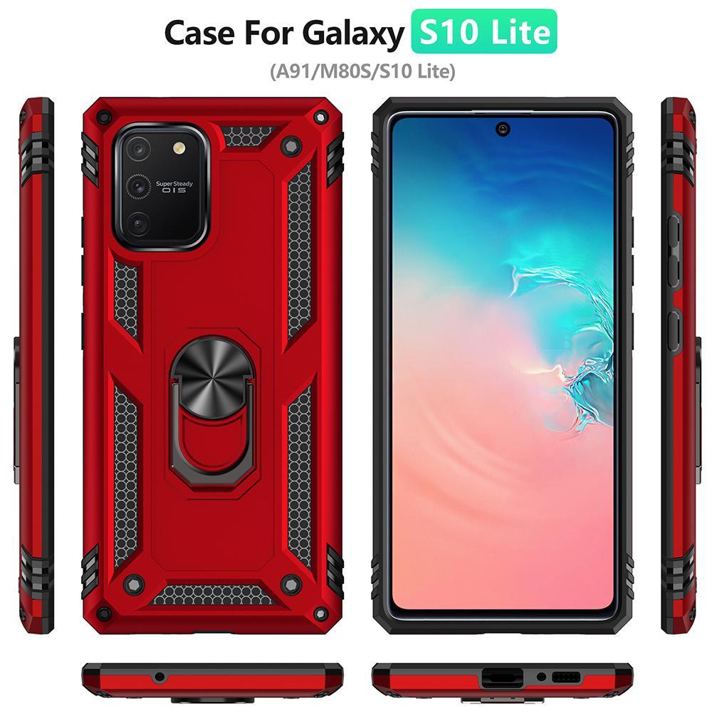 Annulaire pour Samsung A91 pour Samsung Galaxy A91 A81 S20 Note 20 ultra S10 10 Lite Plus M60 M80S de support voiture magnétique Armure Case
