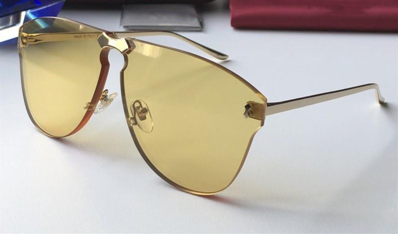 nuovo 0354 tenperament Occhiali da sole per gli uomini e di protezione delle donne di moda speciale popolare UV Lens superiore senza telaio prossimo con il caso