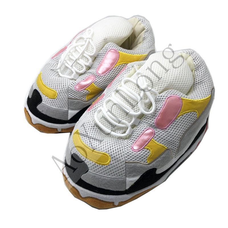 chaussures de pain d'hiver pantoufles maison chaud à l'intérieur des femmes dames maison pantoufles baskets femmes taille femme / hommes slides de sol