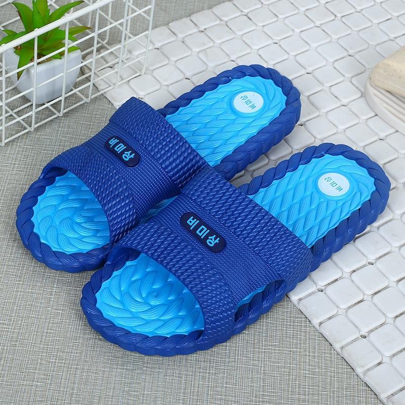 erkekler yeni Kore tarzı yaz kapalı kaymaz yumuşak tabana vurma açık terlik ayak flip-flop erkek âşıkların banyo terlik flip-flop