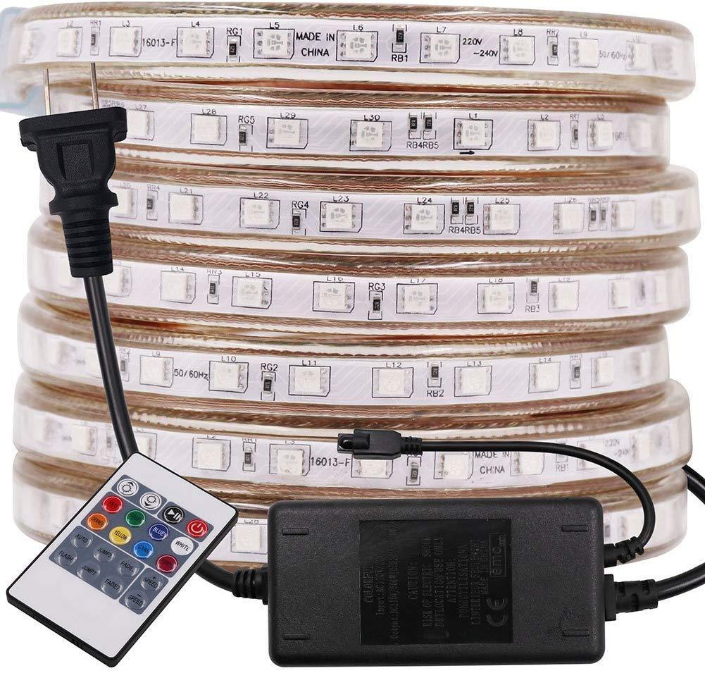 Flexible Rgb Led Strip Lights ,Ac 110v /220v 5050 60leds /M Led Waterproof Rgb Multi Color Changing Led Rope Light For Wedding Party Christm