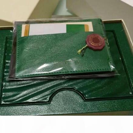 Al por mayor - verde reloj de la marca original de la caja con las tarjetas y Papeles Certificados bolsos caja para 116610 116660 116710 Relojes