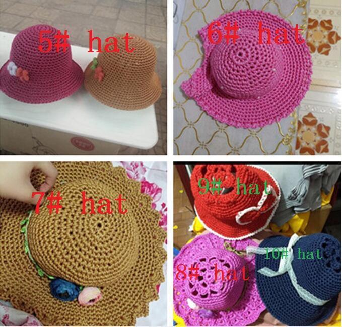 Несколько стилей выбор льда шелковые нити поделки вязание крючком пряжа 3мм поделки на заказ ВС шляпа 1шт / Вы можете связать крючком шапку + вязание крючком