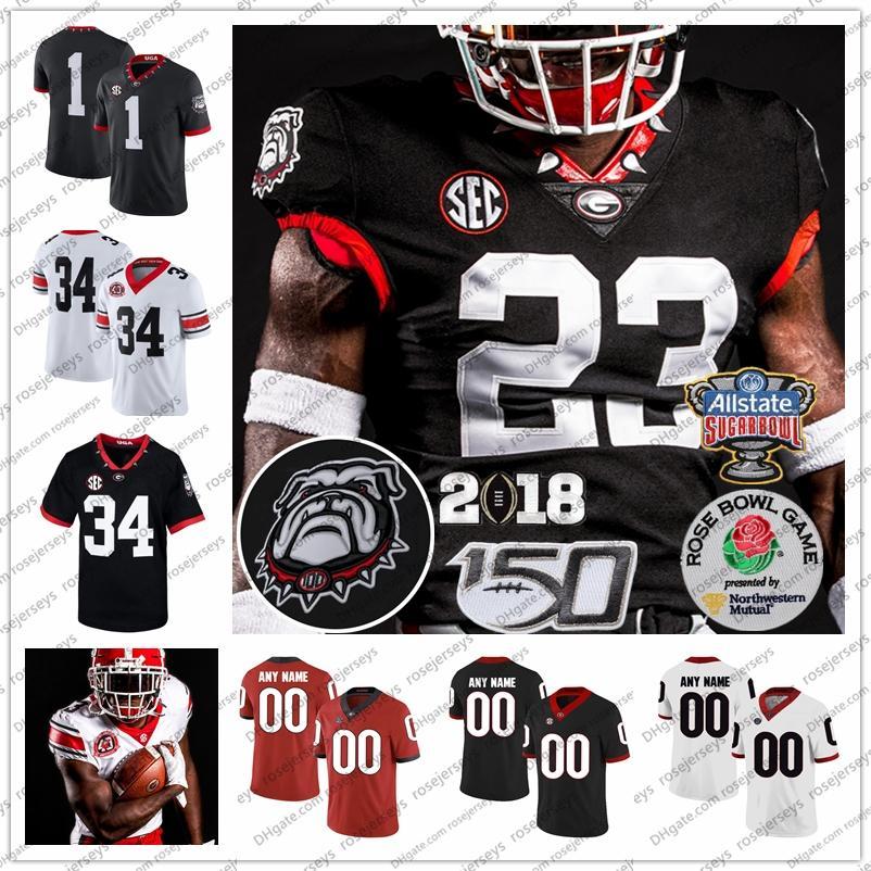 Custom Geórgia Bulldogs 2020 Jerseys 13 Stetson Bennett IV 2 d'Wan Mathis 10 Kearis Jackson 16 Demetris Robertson Men Kid Football Jersey