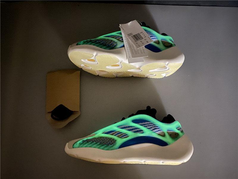 Nuovo Kanye West 700 V3 Azareth scarpe da corsa schiuma verde scuro Grigio Azael 3M Reflective corridore dell'onda EVA Uomini Donne di sport scarpe da tennis con la scatola