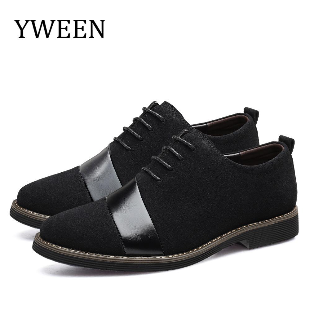 Großhandel neue Marken-Oxford-Schuhe für Herren-Veloursleder-Leder-Mann-formale Hochzeits-Schuhe in Übergrößen Men Casual Naturleder Loafers