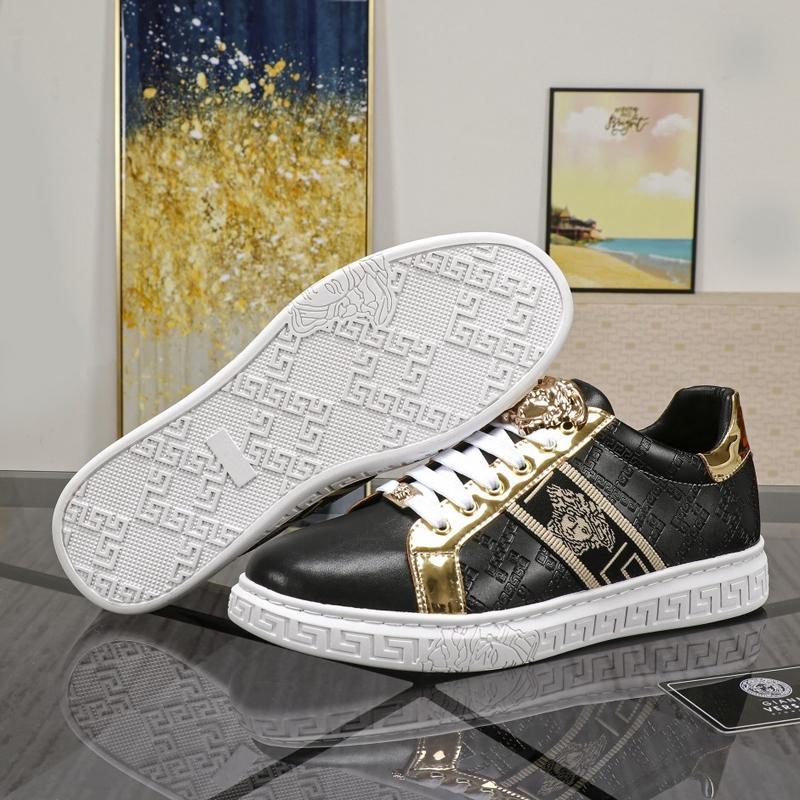 High-end traspirante scarpe da guida degli uomini di lusso, elegante, leggero, classico fondo piatto esterno scatola lacci delle scarpe in esecuzione con la borsa di polvere QWP